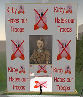 Kirby Protest - Does Kirby Really Hate our Troops?