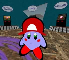Kirby Emporium Manager Drake wearing his Nintendo Kirby Avatar