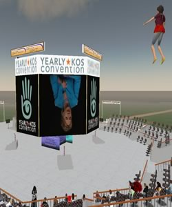 Hillary Clinton at the National Leadership Forum in Second Life