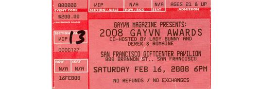GayVN Ticket.